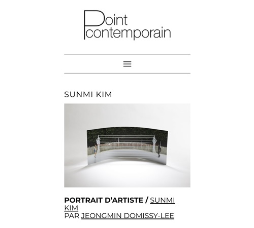PORTRAIT D'ARTISTE – Sunmi Kim, POINT CONTEMPORAIN 2021