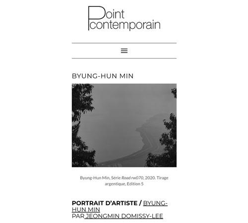 PORTRAIT D'ARTISTE – BYUNG-HUN MIN, POINT CONTEMPORAIN 2021